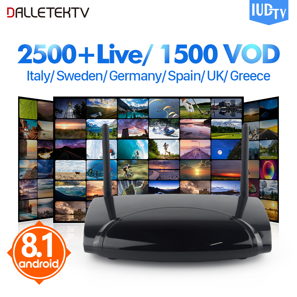 все цены на Best Europe Sweden IPTV Box R2 Android 8.1 TV Box IPTV Spain Arabic Italy 1 Year IUDTV IPTV Subscription Smart Android IP TV Box