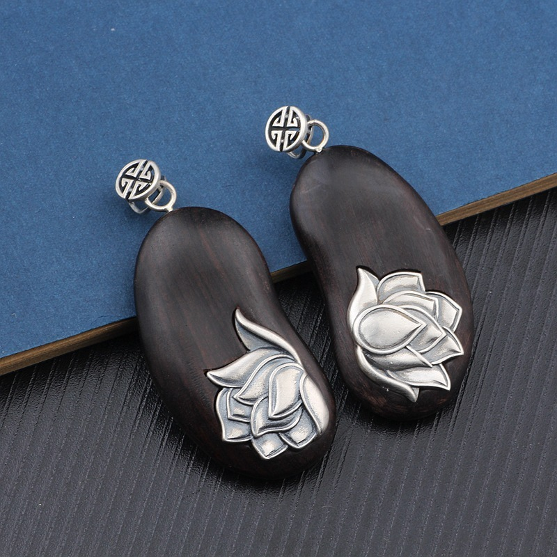 2019 Real Asg Choker Necklace Ornaments Thai National Wind Restoring Ancient Ways Is Ebony Lotus Pendant Mens And Womens New 2019 Real Asg Choker Necklace Ornaments Thai National Wind Restoring Ancient Ways Is Ebony Lotus Pendant Mens And Womens New