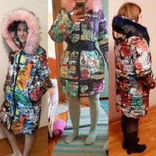 5cd193f5082 2018 Новая коллекция зимняя женская куртка пальто оригинальный меховой  воротник женские парки модный бренд женские s