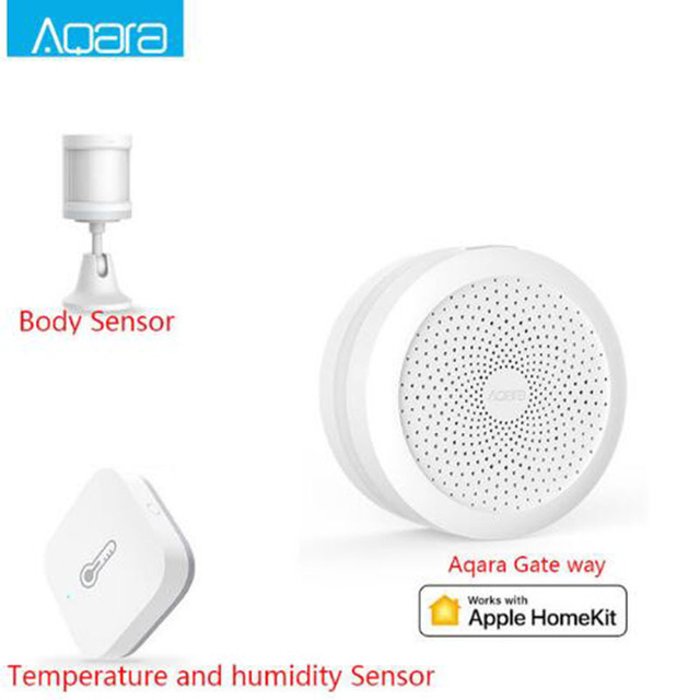 Xiaomi Aqara Smart Gateway Hub Door Window Sensor Human Body Wireless  Switch Humidity Water Sensor For Apple Homekit H20