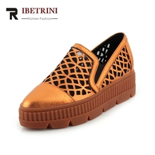 Ribetrini 2018 коровья кожа увеличение Каблучки женская обувь черный Эластичная лента Насосы женская обувь размер 34–39
