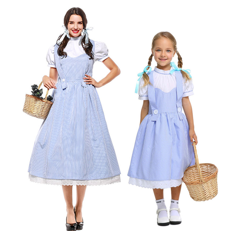 Umorden Dorothy Wizard of Oz Costume Dress for Girls Women Family Halloween Classic Costumes Cosplay