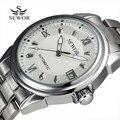 Sewor Aço Vestido Relógios Masculino Relógio Mecânico de alta Qualidade Design Elegante Clássico Calendário Automático Relógios Militares Para Homens