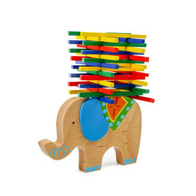2019 3D Baby Educational Toys Elephant Balancing beam Wooden Toys Colorful Wood Balance Beam Game Gift For Children Xmas Gifts wooden toys balance game interactive children parent educational toys for baby kids coordination learning balancing game gift