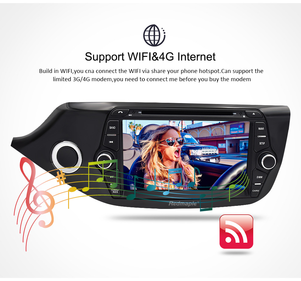 Image 4 - Android 8.0 9.0 Car Multimedia DVD Player for Kia Ceed 2013 2014 2015 2 Din Touch Screen Radio Stereo Video WiFI GPS Navigation-in Car Multimedia Player from Automobiles & Motorcycles