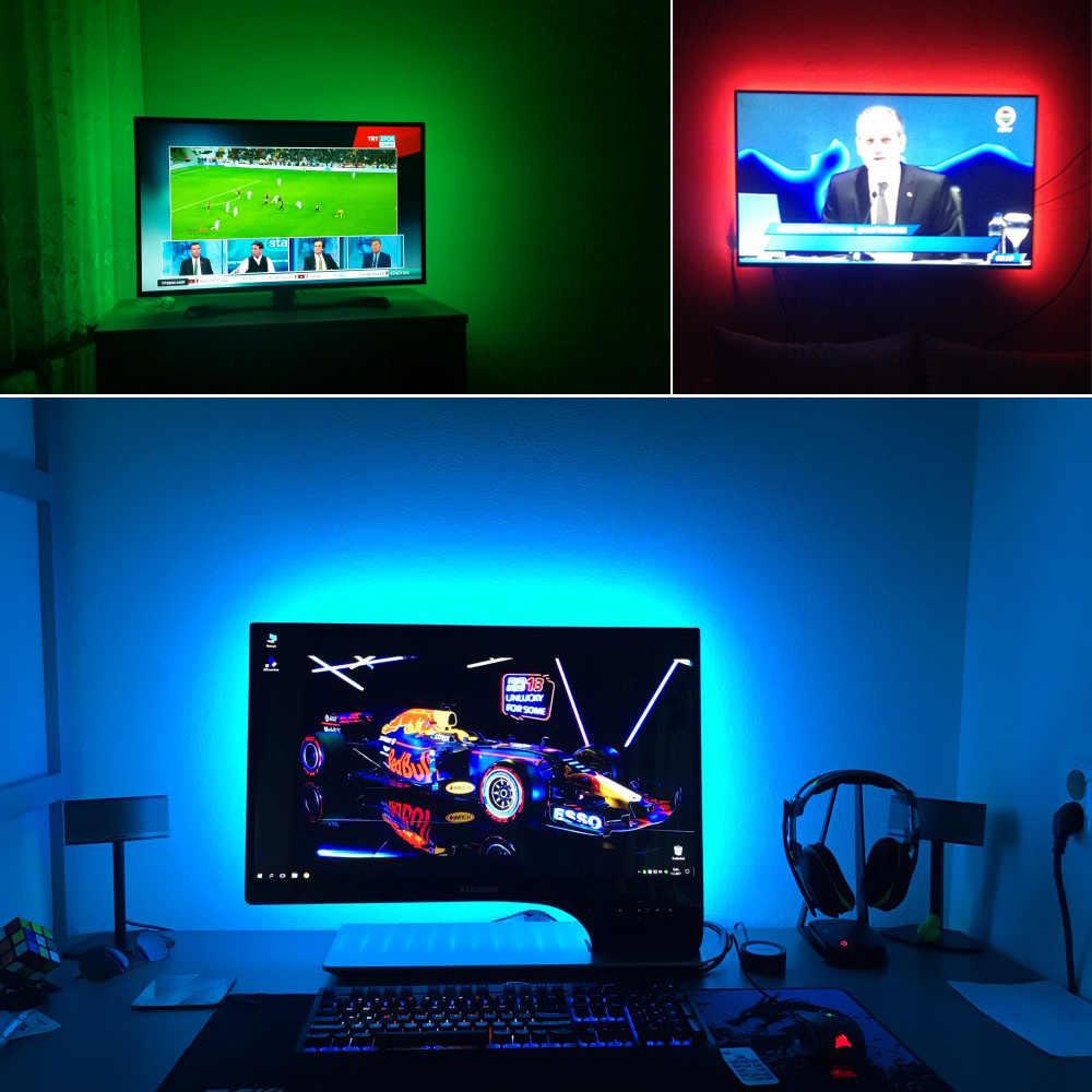 Podświetlenie tv listwy rgb led 5050 wodoodporna 5V taśma led USB String oświetlenie tła do ekranu HDTV pulpit pc Monitor LCD Decor