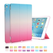 Rainbow Colorful Case for iPad Pro 10.5 2017 Case PU Leather Smart Cover Flip Stand Tablet for Funda ipad 10.5 Plastic Back Case все цены