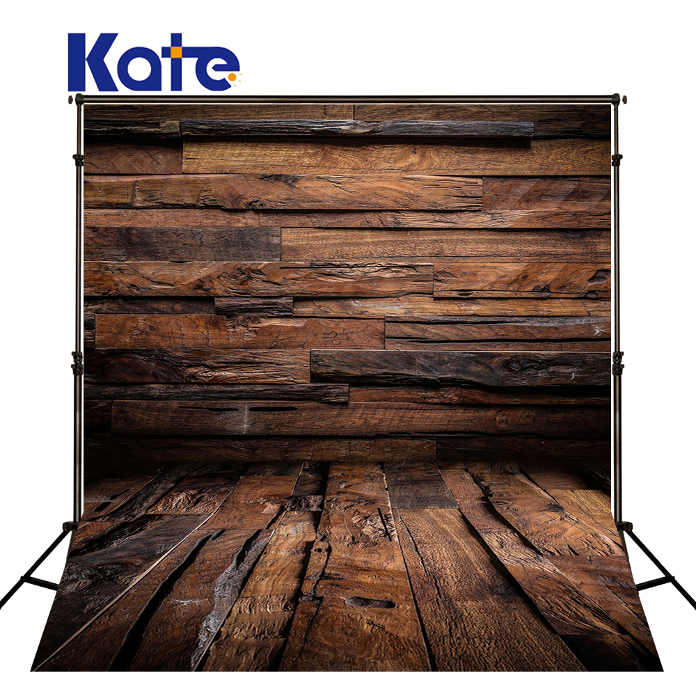 Kate Retor Bois Photographie Décors Vieux Mur Photostudio Fond Coton Pour Enfants Milieux Photo Studio