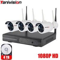 1080P 4CH Wireless NVR CCTV System Wifi 2 0MP IR Outdoor Bullet P2P IP Camera Waterproof