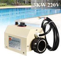 3000W Swimming Pool Home Bath SPA Hot Heating Tub Electric Water Heater Thermostat 220V Swimming Pool Accessories