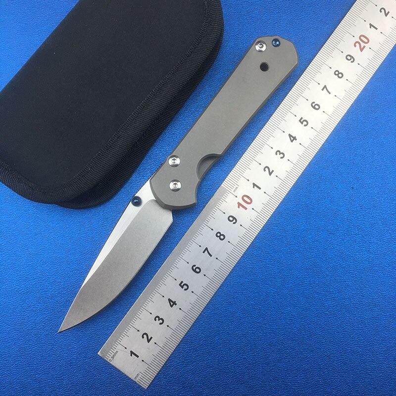 LEMIFSHE petit Sebenza 21 couteau pliant D2 lame en alliage de titane poignée en plein air Camping outils chasse survie couteaux edc