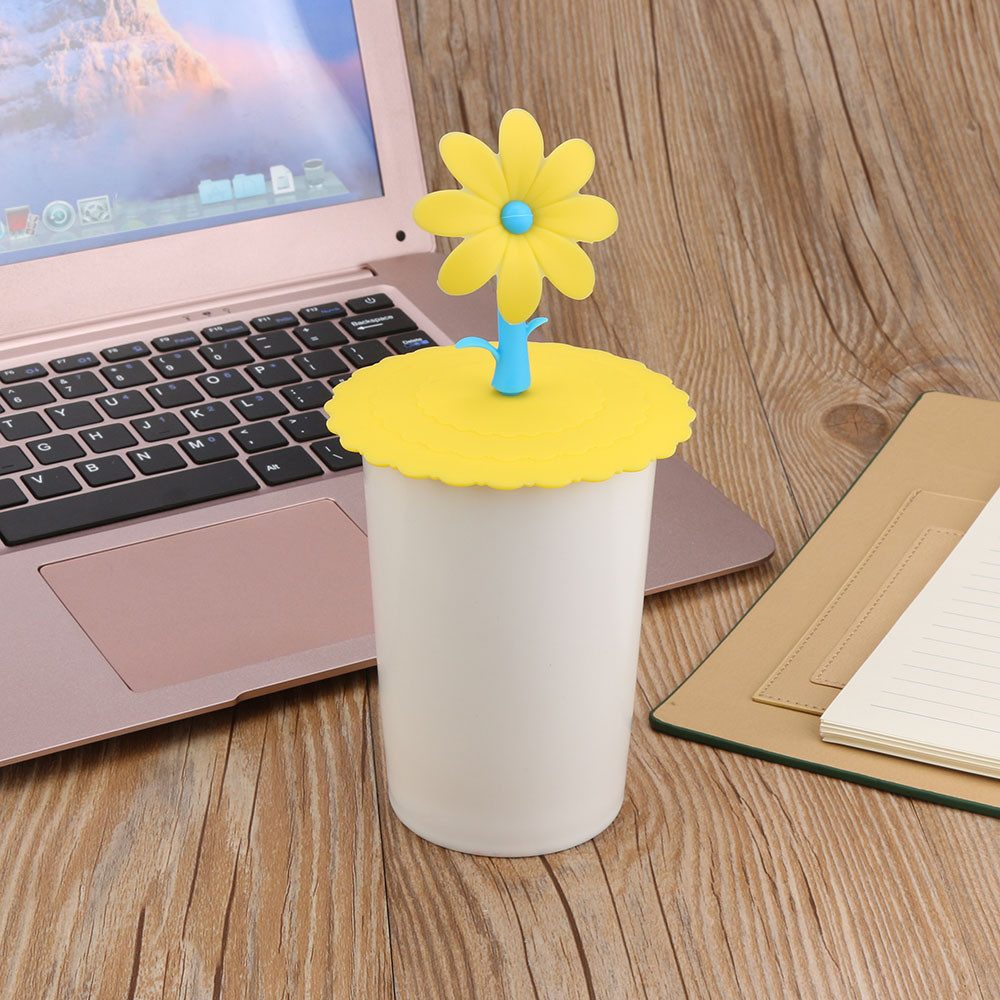 Cup Cover Lids Coffee-Mug Drinking-Wash Gargle Water Silicone Sapling J23