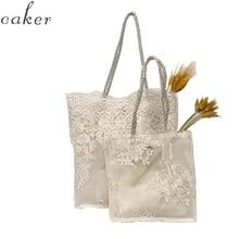 Caker Brand 2019 Women Large Big Flower Lace Handbags Fashion Hollow Summer Beach Bags Wholesale