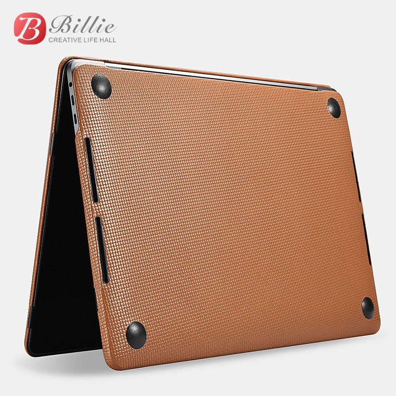 Image 3 - Genuine Leather Cover Case For MacBook Pro 15 inch New 2017 Case Sleeve Luxury Leisure Laptop Bags & Cases Protective Shell Cove-in Laptop Bags & Cases from Computer & Office