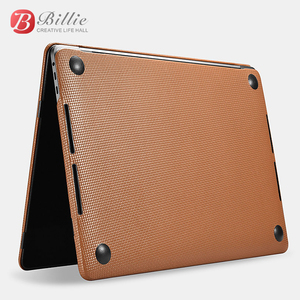 Image 3 - Genuine Leather Cover Case For MacBook Pro 15 inch New 2018 Case Sleeve Luxury Leisure Laptop Bags & Cases Protective Shell Cove