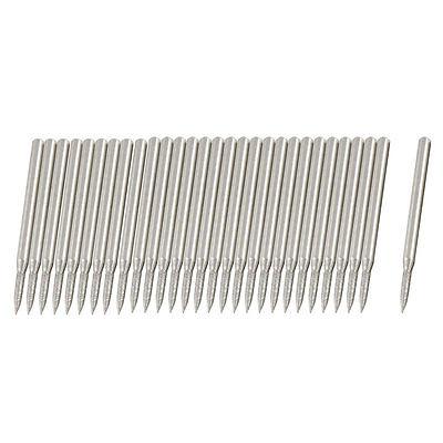 30 Pcs 3mm Shank 2mm Tapered Tip Diamond Bits Burs Grinding Tool