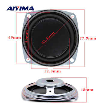 Aiyima 2PC 3 Inch Bass Speaker Vibrating Membrane Bass Radiator Passive Radiator Rubber Diaphragm Passive Woofer DIY 77.9mm