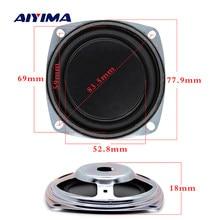 Aiyima alto-falante de 3 Polegada graves, 2 peças, vibrador de membrana graves radiador passivo, diafragma de borracha, woofer passivo, diy, 77.9mm