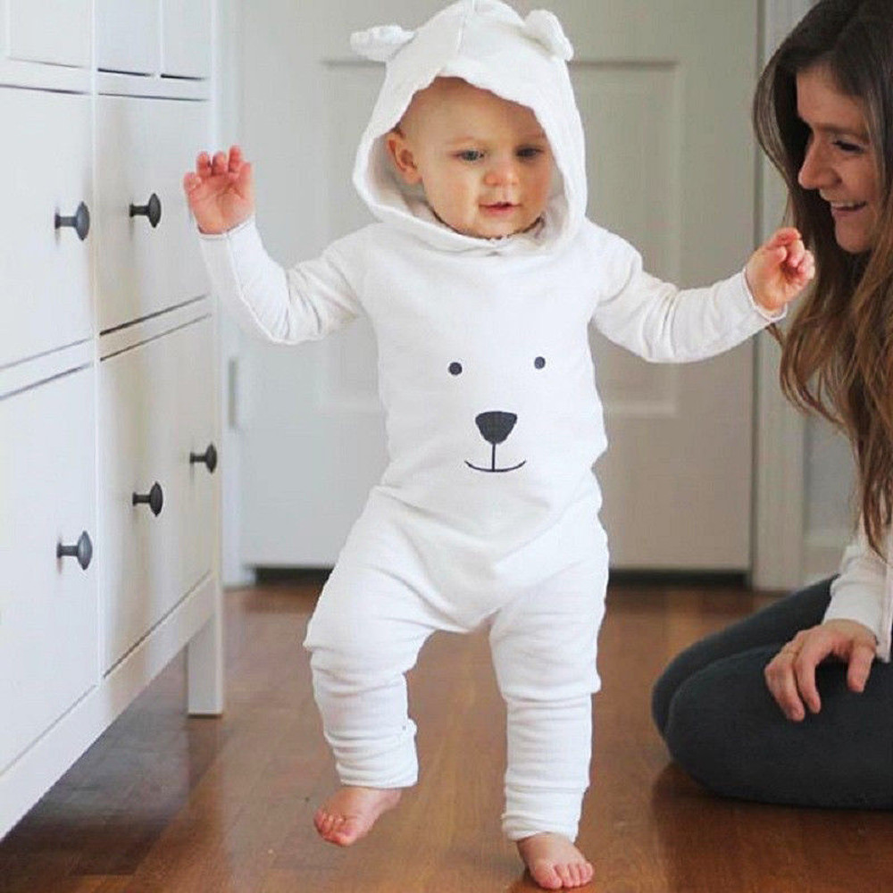 MUQGEW Newborn Infant Baby Boy Girl Hooded Cartoon Romper Jumpsuit Outfits Clothes roupa de bebe overalls for newborns одежда на маленьких мальчиков
