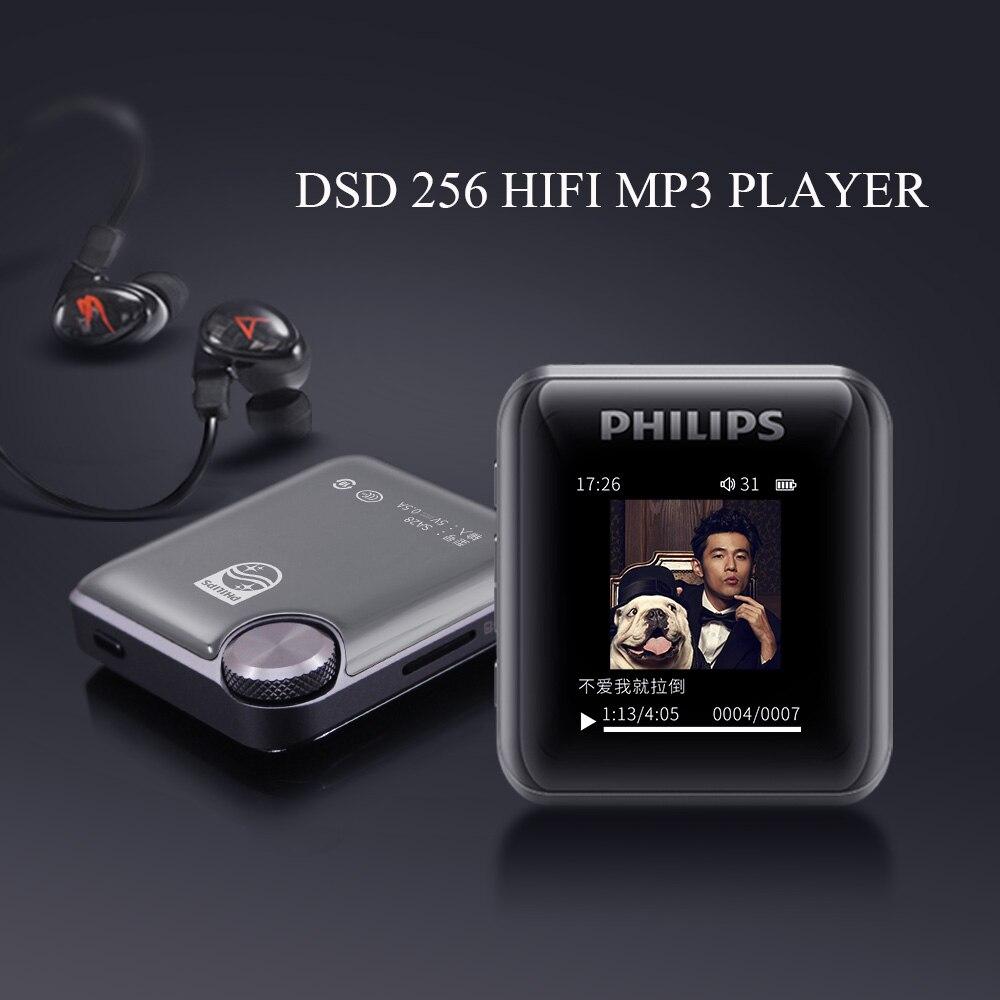 Philips Original HIFI MP3 Player Sport 128GB Support TF Card Type-C OTG Student Learnning Study DSD Music Decording SA2816