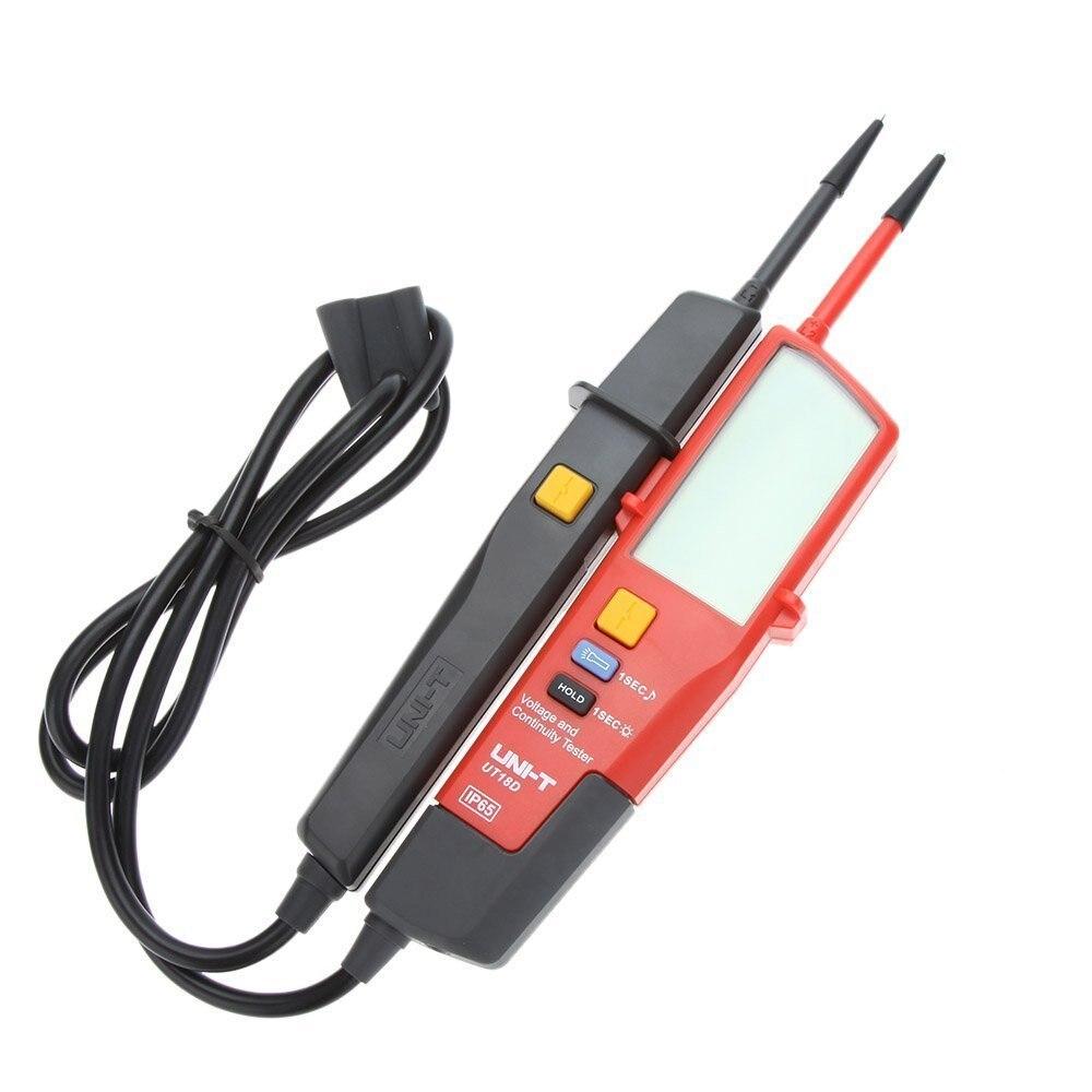 UNI T UT18D Spannung Kontinuität Tester Auto Bereich Spannung Detektor Stift Voltmeter LED/LCD Display RCD/auf- off test IP65 Wasse