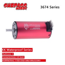 SURPASSHOBBY KK 3674 1150KV 1350KV 1580KV 1900KV 2250KV Waterproof Brushless Motor for RC 1/10 1/8 Drift Racing Off-road Car