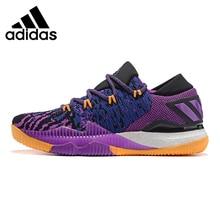 2609d27e3bb3 Adidas Crazylight Boost Low Men s Basketball Shoes Purple Non-slip Wear- resistant
