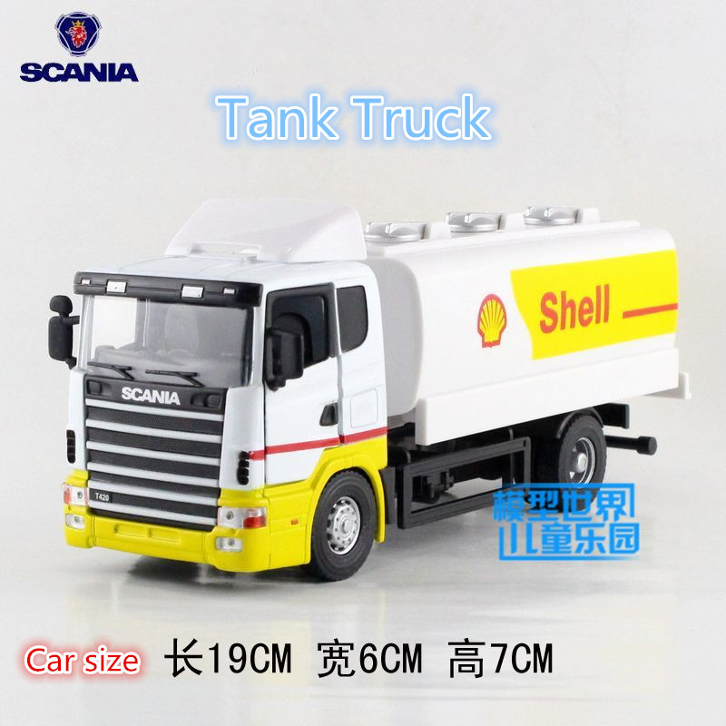JOYCITY/1:43 Scale/Diecast model SCANIA series toy/Engineering Garbage Truck/Educational Car for children's gift or Collection