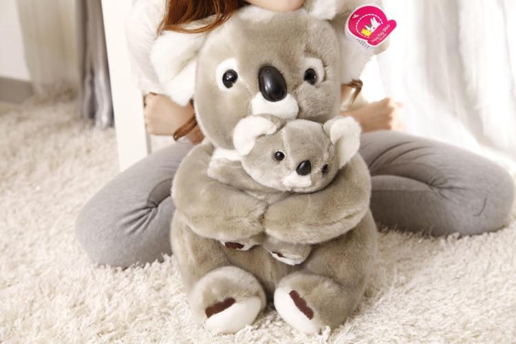 stuffed animal 40 cm koala bear hugged baby koala plush toy soft doll gift w2407 cute animal soft stuffed plush toys purple bear soft plush toy birthday gift large bear stuffed dolls valentine day gift 70c0074