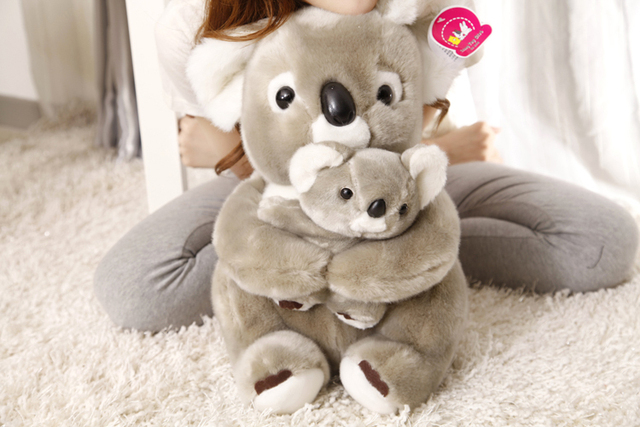 Stuffed Animal 40 Cm Koala Bear Hugged Baby Koala Plush Toy Soft