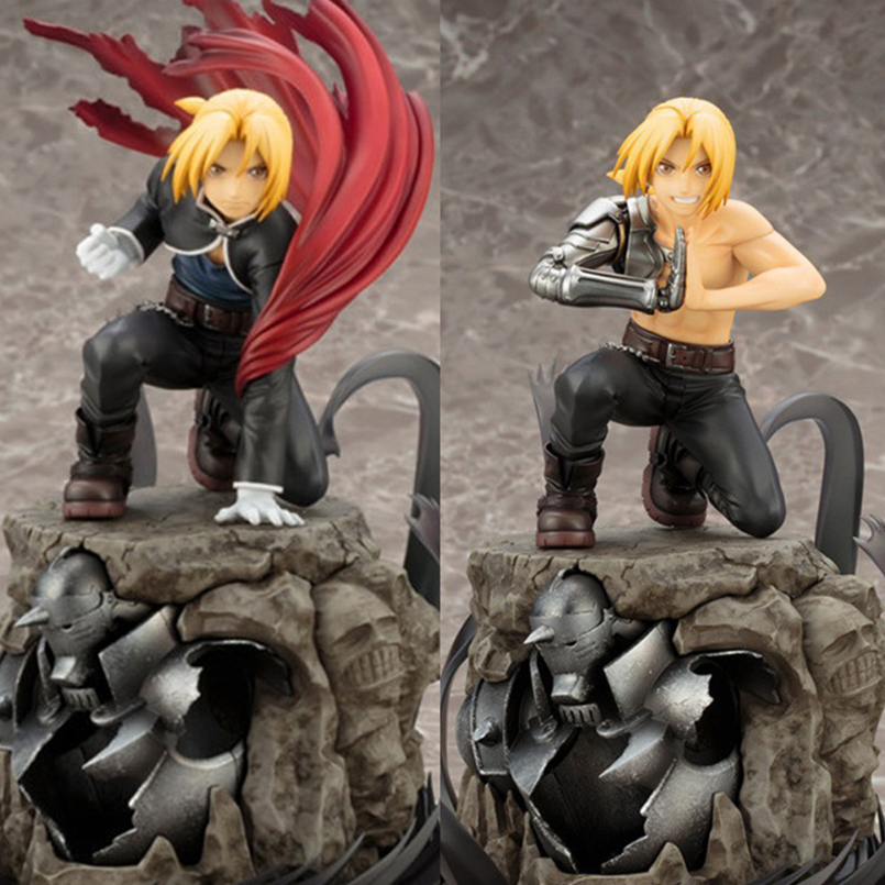 22 CM PVC Fullmetal Alchemist Action Figure Edward Elric Alphonse Elric Brotherhood Model Toys Anime Collection Christmas Gift