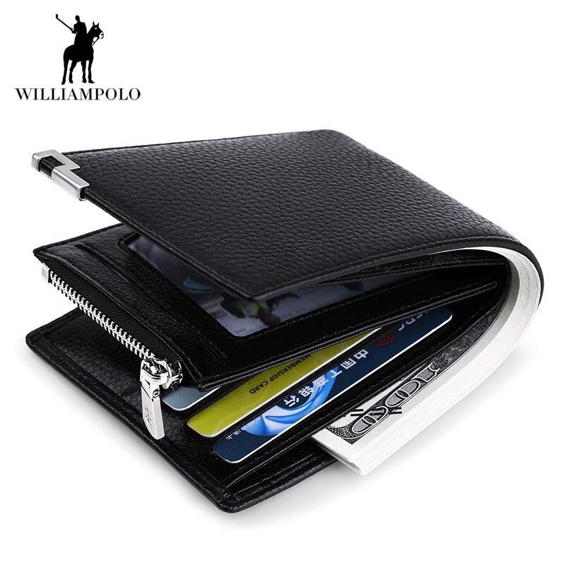 Marque de luxe 2018 en cuir véritable hommes porte-monnaie porte-monnaie porte-monnaie décontracté porte-monnaie porte-carte hommes d'affaires homme porte-monnaie