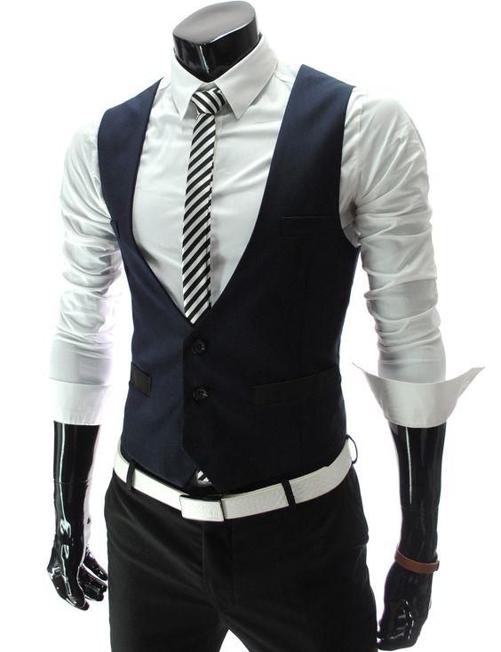 New Design Navy Blue Mens font b Suit b font Vests font b Custom b font