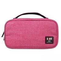 Perfeito-BUBM placa de recepção 2 pcs dupla face de recepção digital de grande capacidade bag Rose red