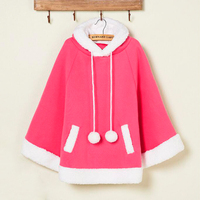 Women Autumn Winter Student Christmas Clothing Harajuku Cape Pullovers Hoodies Girls Cute Loose Cloak Sweatshirts Outerwear