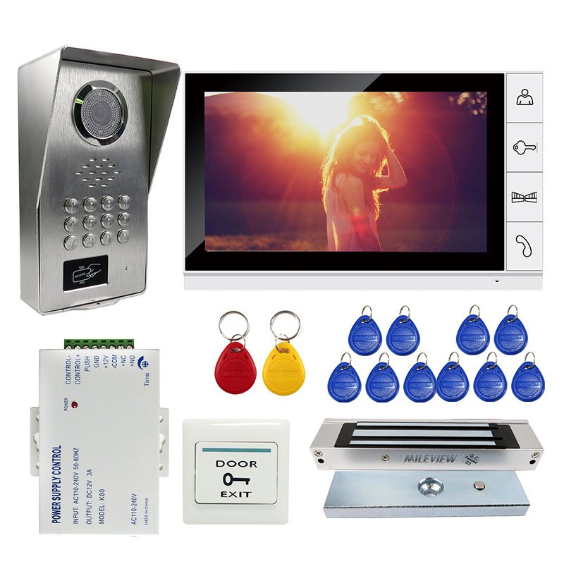 Grenseure FREE SHIPPING 9 LCD Monitor Video Intercom Door Phone System RFID Code Keypad Outdoor Camera + Electromagnetic Lock grenseure free shipping 9 lcd monitor video intercom door phone system rfid code keypad outdoor camera electromagnetic lock