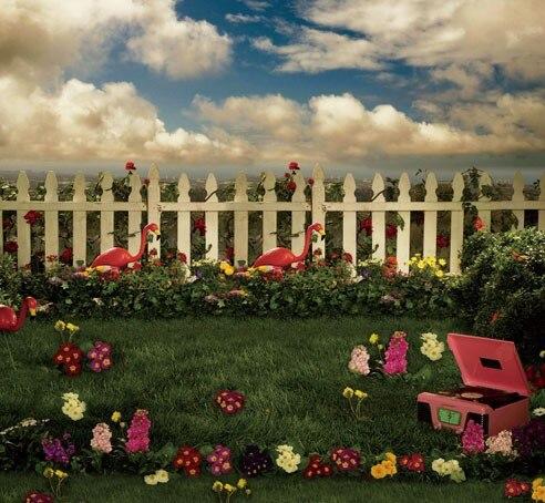 Garden Nature Scenic Photography Digital Backdrop Cloth ...