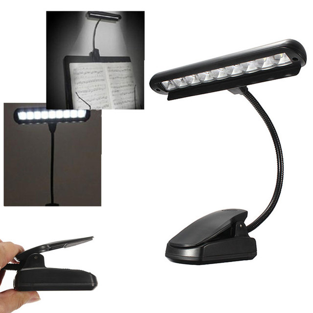 9 LEDs Clip-On Orchestra Music Stand Piano Portable Flexible LED Lamp Kids Children Reading Led Light Light with AC Adapter