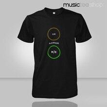 2015 short sleeved Men T-shirt bar night DJ pioneer CD Pioneer Play Pause Cue turntables TOP Tees camisa masculina