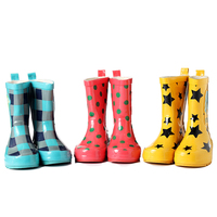 Plush Children Environmental Protection Rainshoes Boys and Girls Animal Picture Waterproof Rubber Boots Children shoes for girls