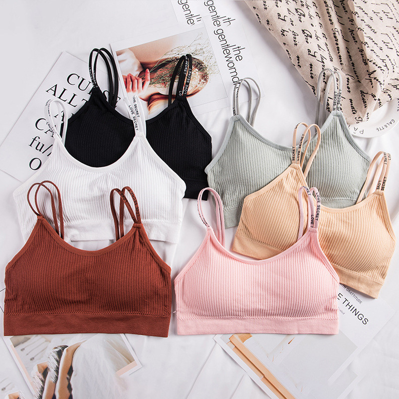 2019 Cotton Bra Women Seamless Wireless Bralette Ladies Padded Brassiere <font><b>Sexy</b></font> <font><b>Push</b></font> <font><b>Up</b></font> Bra Female <font><b>Lingerie</b></font> <font><b>Femme</b></font> Soutien Gorge image