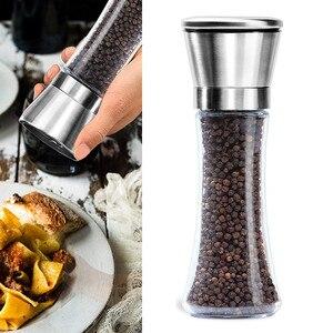 Image 2 - 주방 소금과 후추 그라인더 6 온스 스테인레스 스틸 밀 셰이커 사용하기 쉬운 바베큐 요리기구