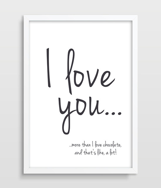 I Love You More Than Funny Quotes Adorable Online Shop Print I Love You More Than Chocolate Funny Quote