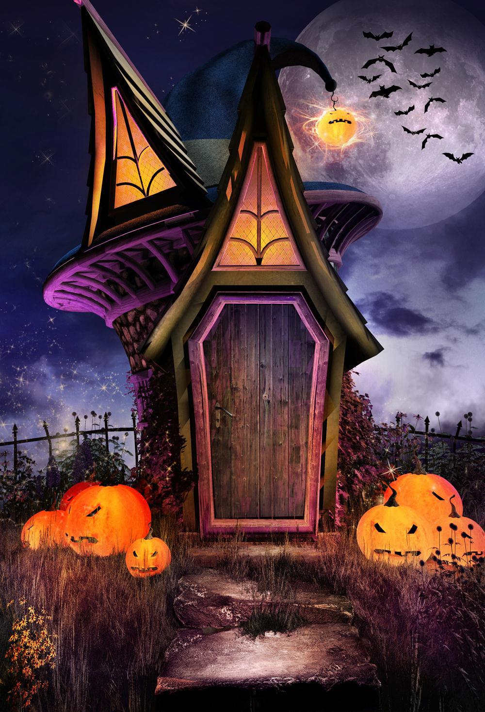Huayi Thin Vinyl Halloween Bakcdrop Photography Background