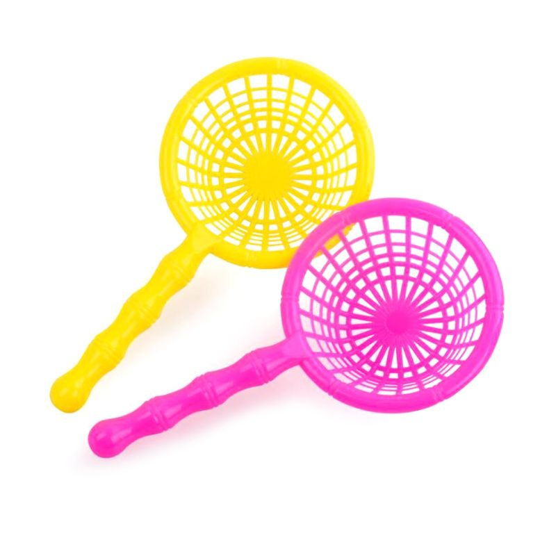 2pcs 16.5cm Plastic Kids Bath Fishing Net With Handle Accessories Children Outdoor Gift Random Color