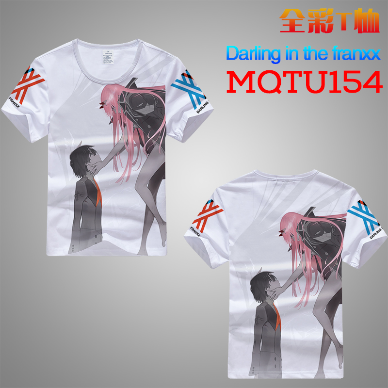 Hot Sale DARLING IN  THE FRANXX Anime T Shirt Men Women New Fashion Hip Hop Streetwear Tops Tees Casual Funny Graphic T-shirt AA