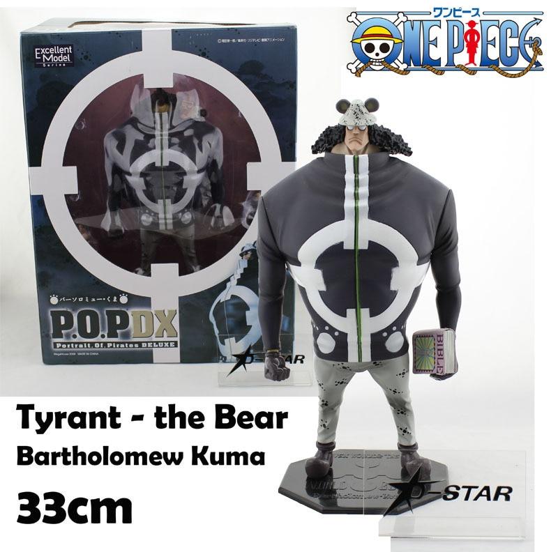 Free Shipping 13 One Piece P.O.P DX Shichibukai Tyrant Bear Bartholomew Kuma Boxed 33cm PVC Action Figure Model Collection Toy bartholomew