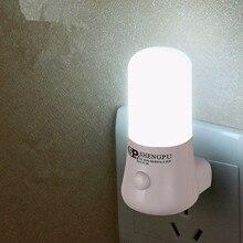 Sxzm 1w night lamp 6 led night light lâmpada de cabeceira lâmpada de parede soquete ue/eua plug ac 110 220v casa decoração luz para o presente do bebê