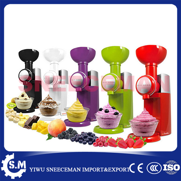 Automatic Frozen Fruit Dessert Machine DIY Fruit Ice Cream Maker Milkshake Machine bl 1000 automatic diy ice cream machine home children diy ice cream maker automatic fruit cone soft ice cream machine 220v 21w