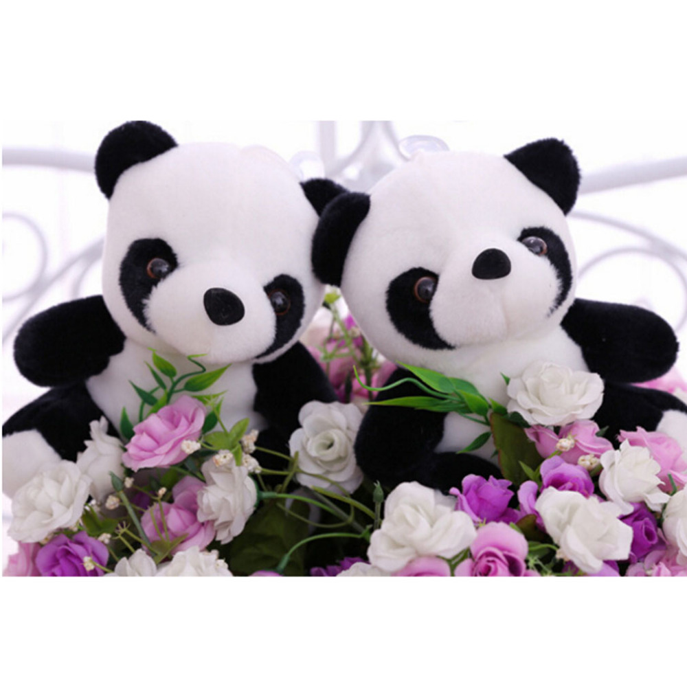 11cm Lovely MIni Super Cute Stuffed Kid Animal Soft Plush Cartoon Panda Gift Present Doll Toy For Children